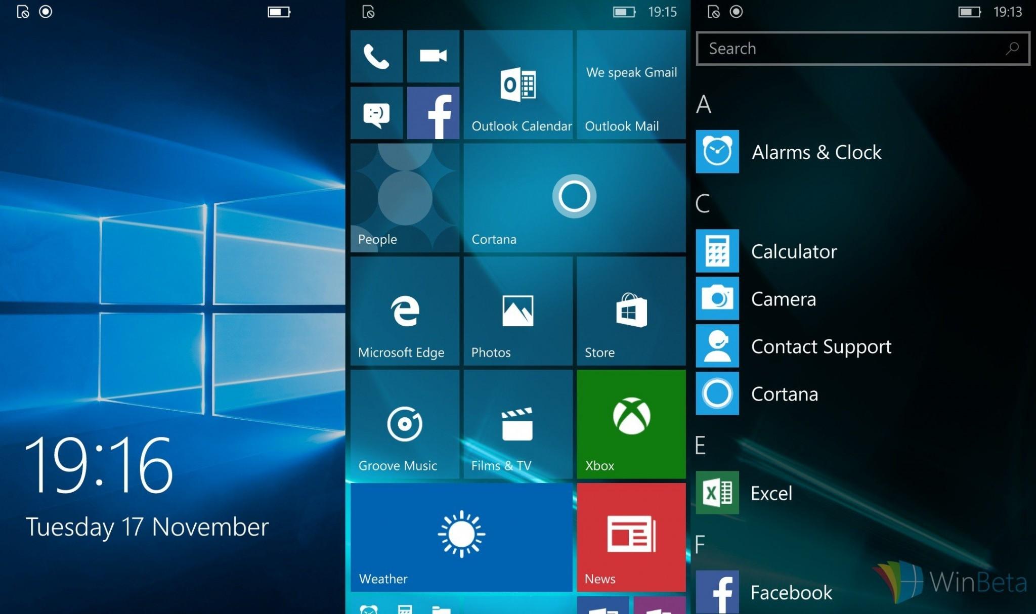 Nuevas capturas de la build 10586.11 de Windows 10 Mobile
