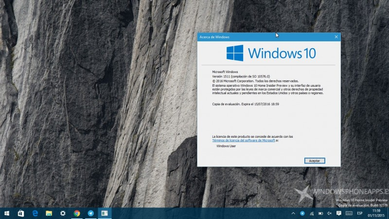 Windows 10 Build 10576