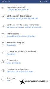 Facebook para Windows 10 Mobile recibe una actualización que la renueva completamente