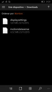 Instalar motiondatanse.appx (Datos de movimiento de Lumia)