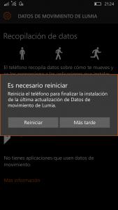 Primer inicio de Datos de movimiento de Lumia