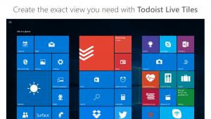 Todoist for Windows 10 Live Tiles