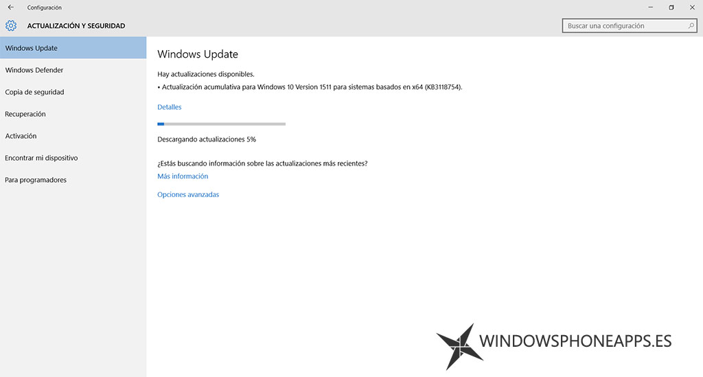 Windows 10 versión 1511 (KB3118754)