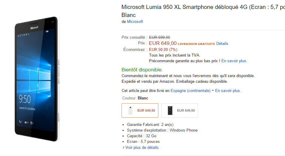 amazon francia 950 - 950 XL (1)