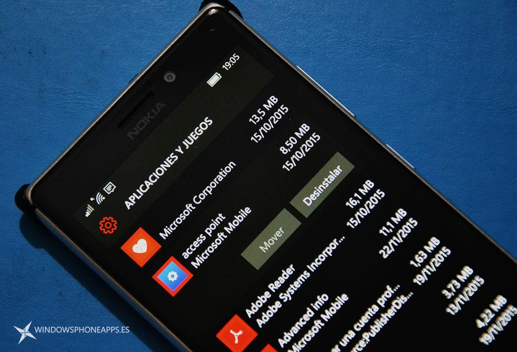 Aplicaciones de configuración de los Lumia se pueden desinstalar