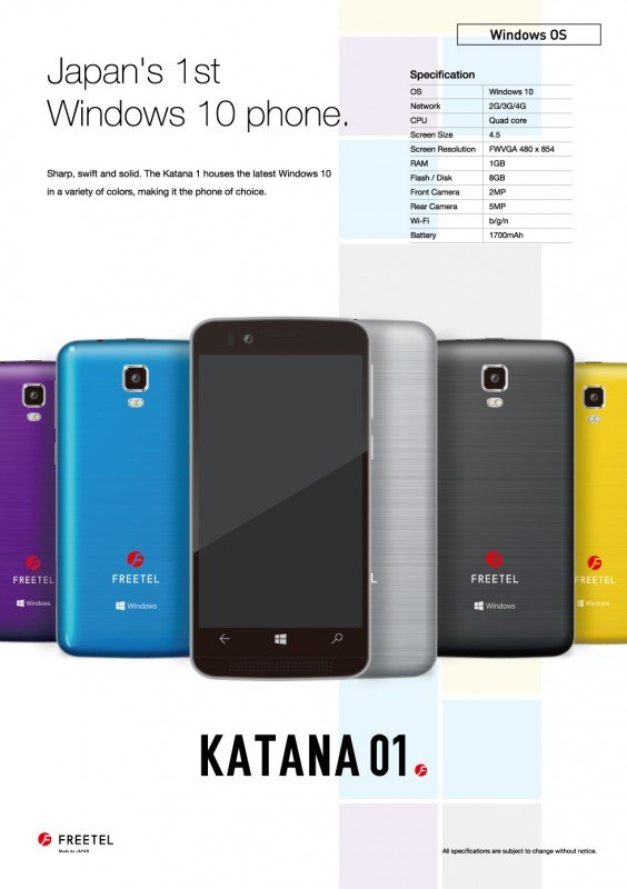 Katana Windows 10 Mobile