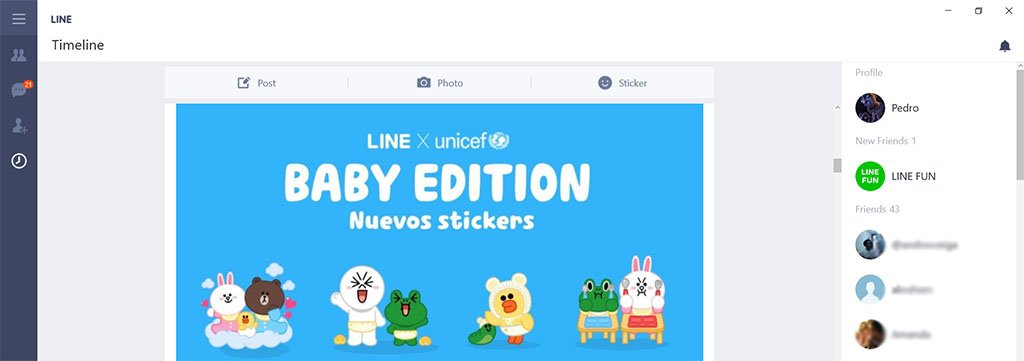 line windows 10 app