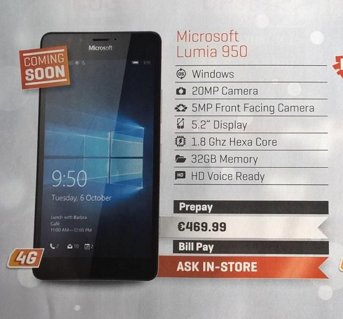 lumia 950 irlanda