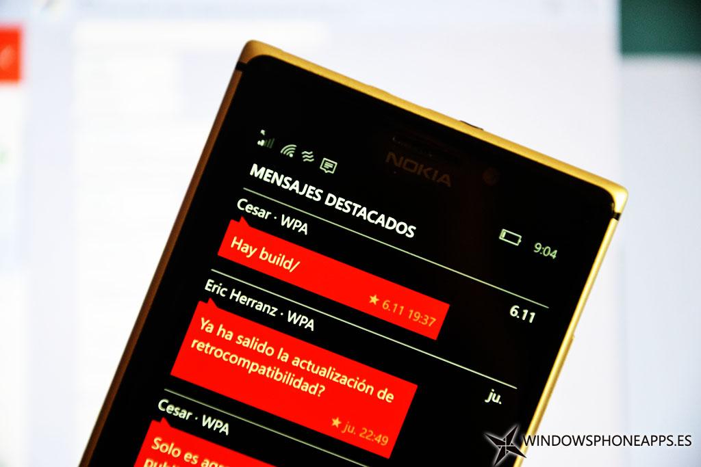 mensajes destacados Whatsapp Windows