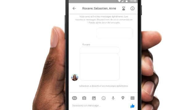 mensajes que desaparecen para Messenger 3