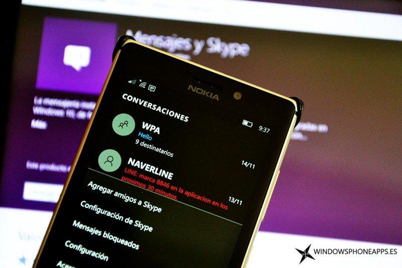 mensajes y skype