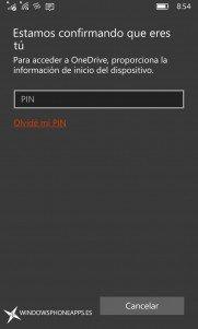 Onedrive se actualiza con opción de añadir PIN