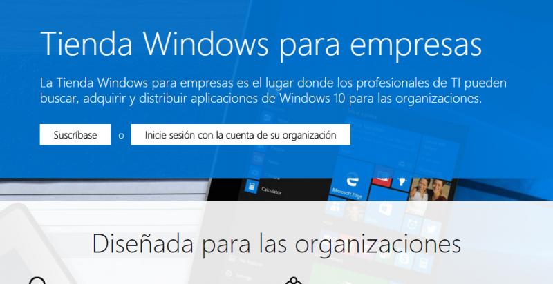 tienda windows para empresas