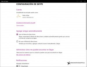 video de skype confi