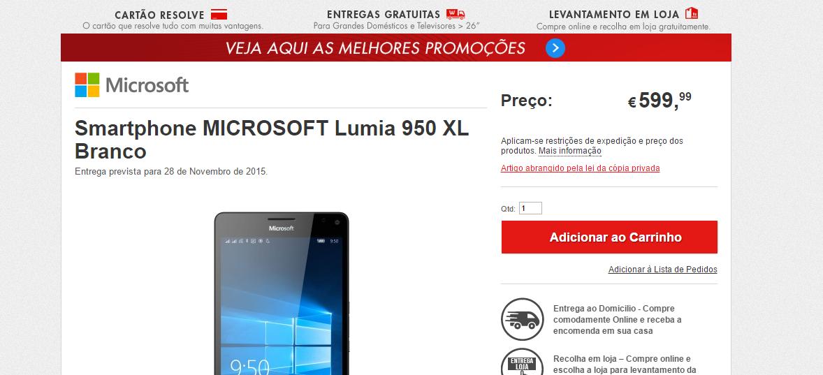 worten 950 xl portugal