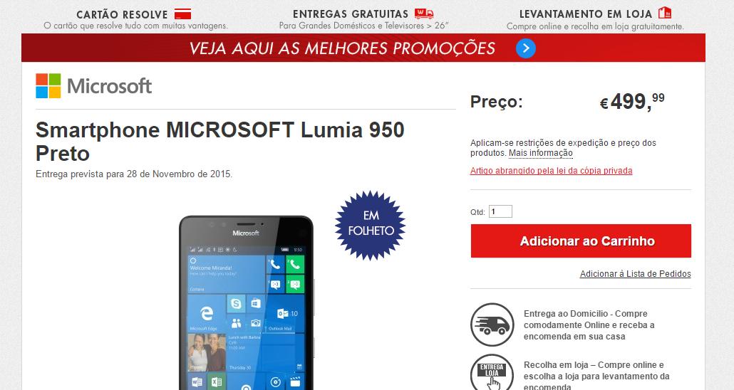 worten lumia 950 portugal