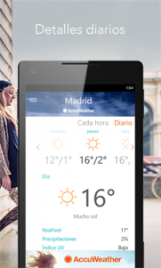 AccuWeather - Weather for Life en Windows 10 Mobile (3)