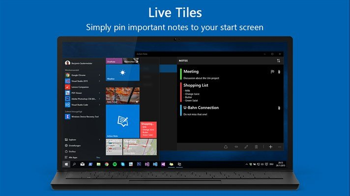 Action Note, un excelente creador de notas para dispositivos Windows 10
