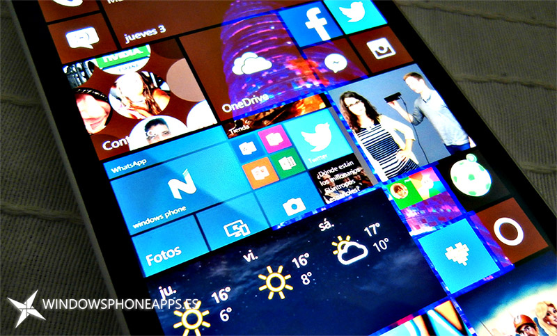 Fotos de Microsoft en el inicio de Windows 10 Mobile