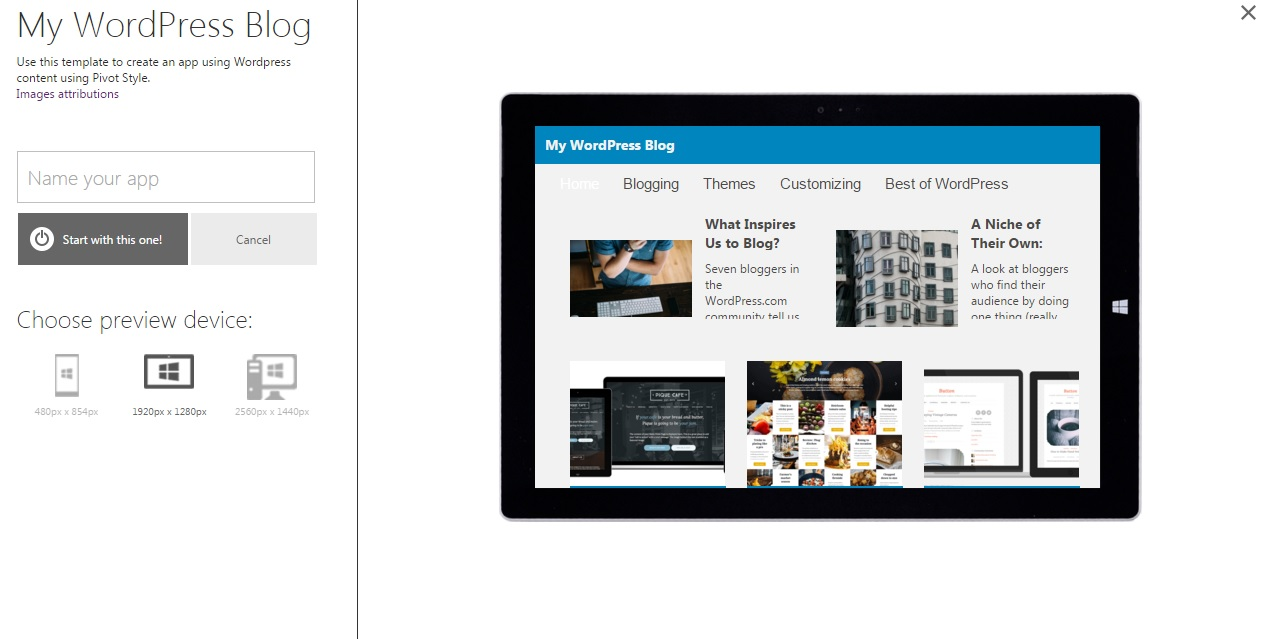 app studio wordpress