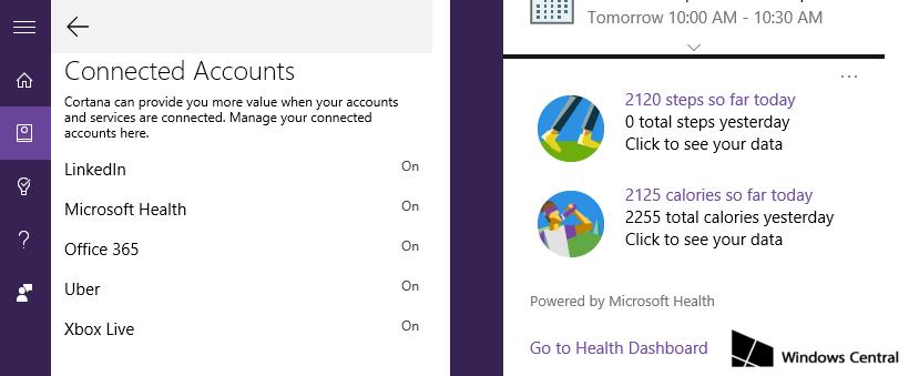 cortana-microsoft-health-cuentas-conectadas