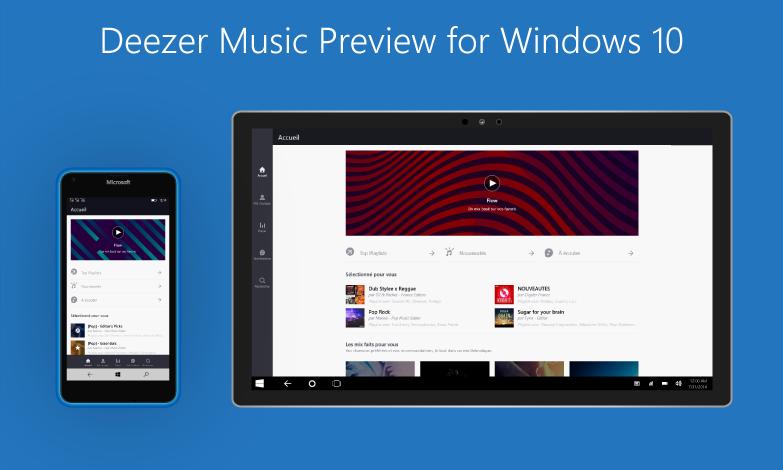 Deezer Music Preview windows 10