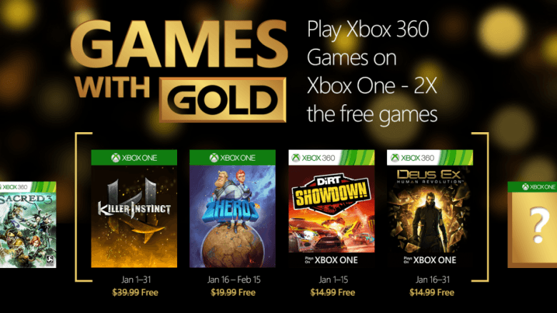 games with gold enero 2016