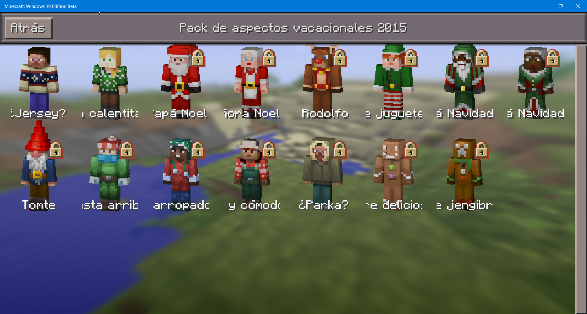 Minecraft Pocket Y Windows Edition También Se Vuelven Navideños - Skins para minecraft windows 10 edition beta