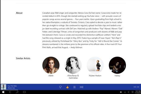 Pandora ya se encuentra disponible para Windows 10 PC en algunos mercados