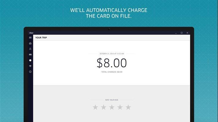 Uber ahora se encuentra disponible para escritorio en Windows 10 PC
