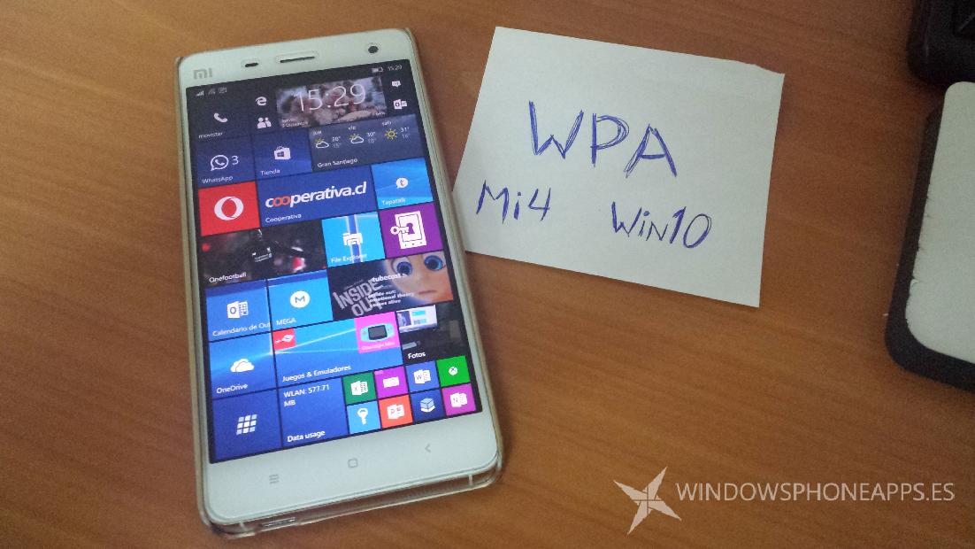 Xiaomi Mi4 Windows 10 Mobile WPA