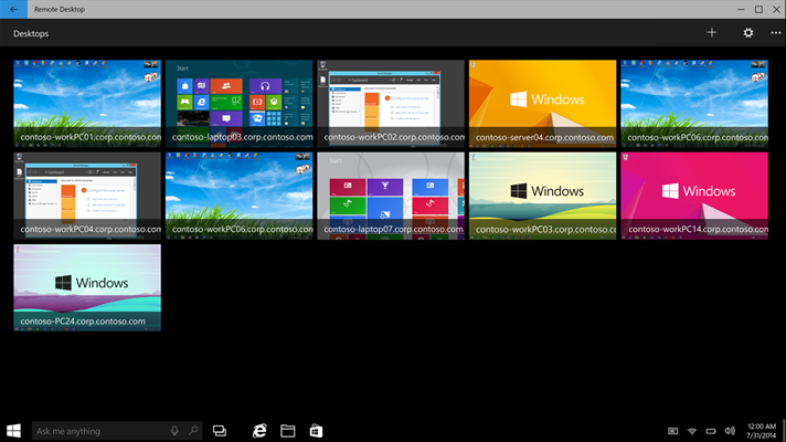 remote desktop preview
