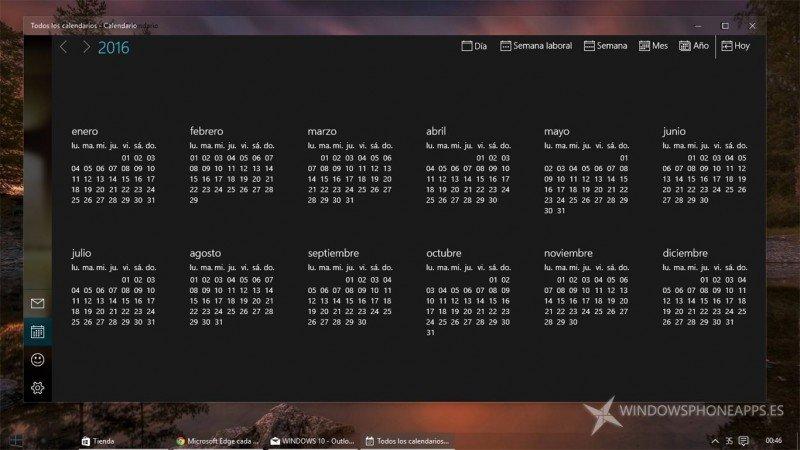 Microsoft elimina el efecto blur del calendario por año en nueva actualización de Correo y Calendario de Outlook