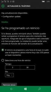 La nueva actualización de configuración nos prepara para recibir nuevas builds de Windows 10 Mobile