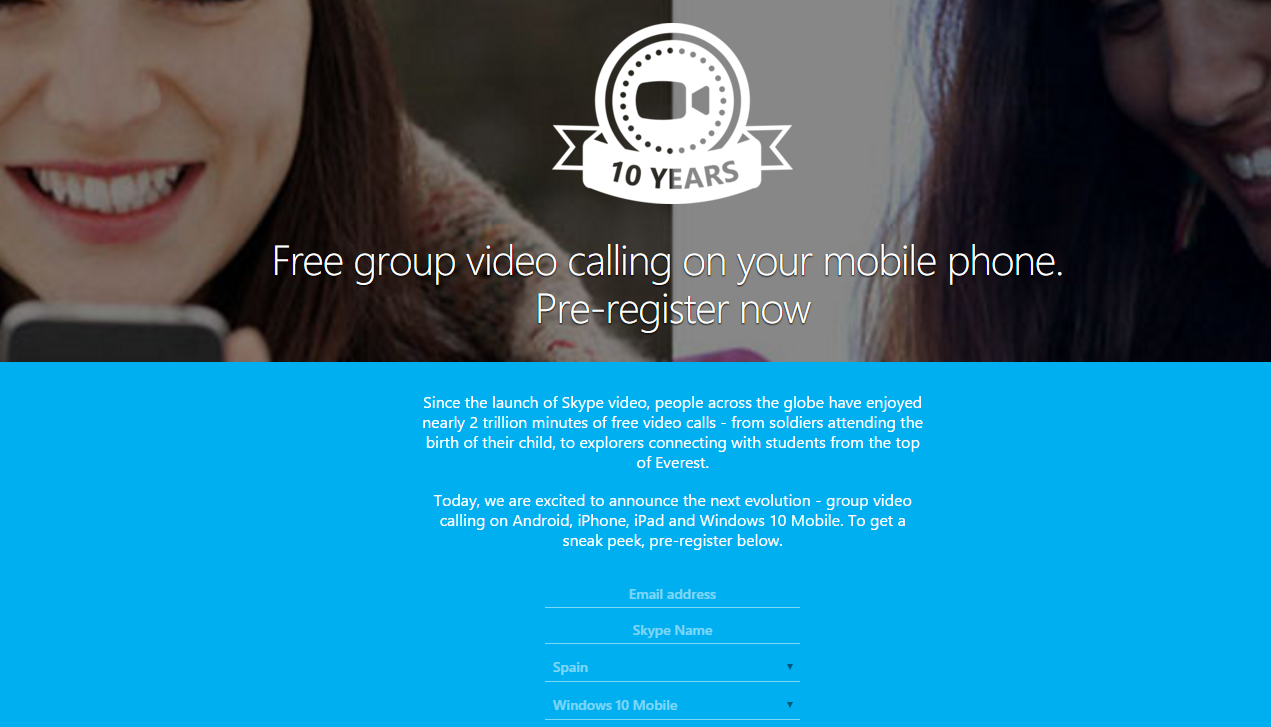 skype videollamadas grupales