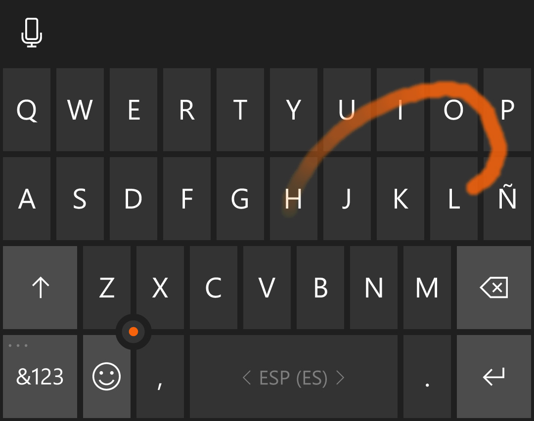 teclado Word Flow Windows 10 Mobile