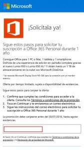 Office 365 lumia 950