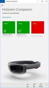 Hololens Companion, administra las gafas de realidad virtual en Windows 10