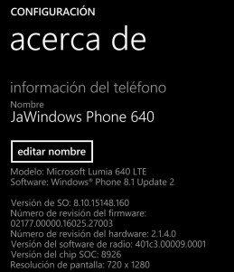 Algunos Lumia 640 y Lumia 640 XL estarían recibiendo una actualización de firmware