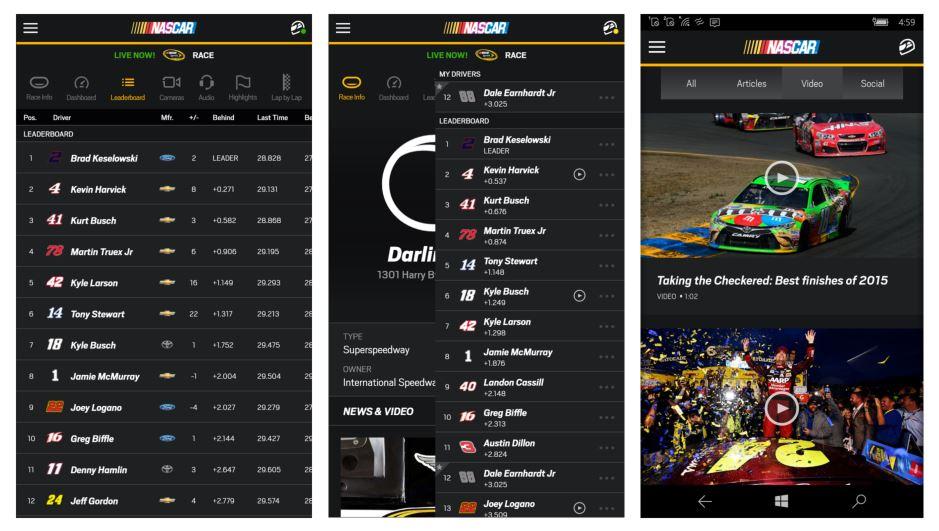 NASCAR-for-Windows-10-mobiel