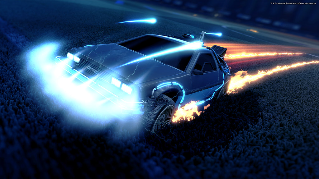 Rocket League delorian copia