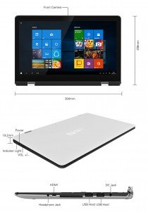 W11Pro3, el Laptop - Tablet PC Transformer de Vido