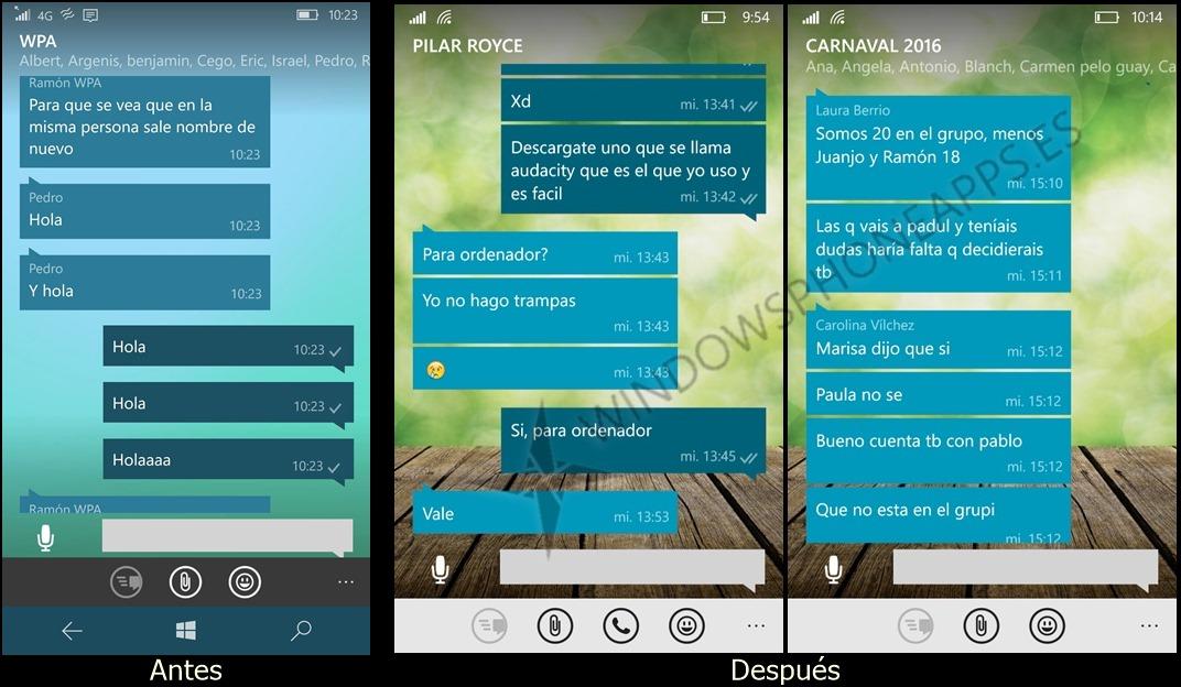 WhatsApp se actualiza en Windows y ya cuenta con agrupación de mensajes