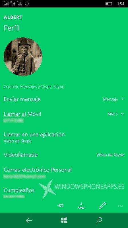Nueva actualización de Contactos de Microsoft añade pestaña de Historial