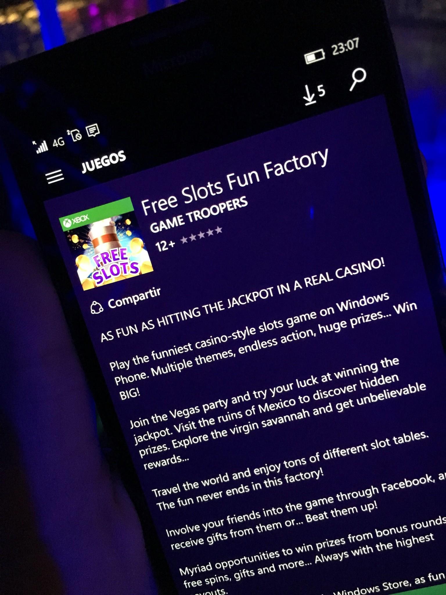 Game troopers nos presenta su nuevo juego Xbox, Free Slots Fun Factory