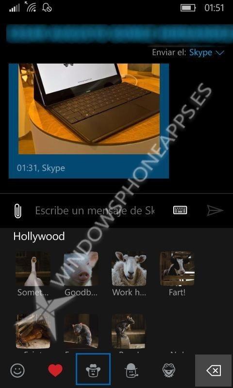 Una nueva actualización de Mensajes y Skype para Windows 10 Mobile con novedades