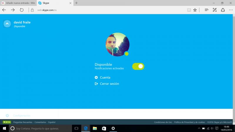 Skype web notificaciones