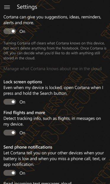 Cortana bateria baja