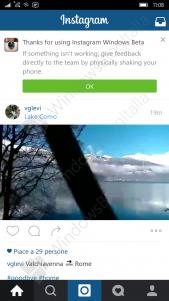 Instagram para Windows 10 Mobile se muestra en imágenes y vídeo