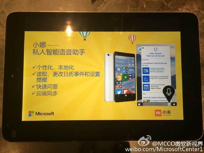Xiaomi Mi Note con Windows 10